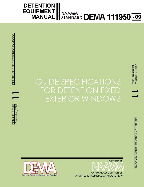 Guide Specificatons for Detention Fixed Exterior Windows