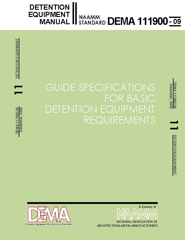 Guide Specifications for Basic Detention Equipment Requirements