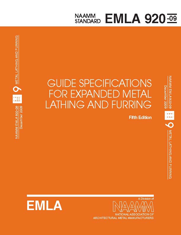 Guide Specifications For Expanded Metal Lathing and Furring