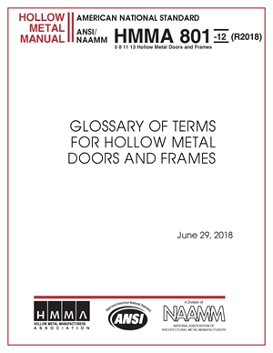 Glossary of Terms for Hollow Metal Doors and Frames