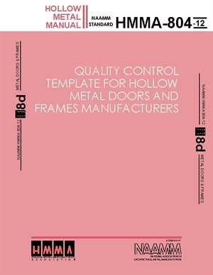 quality control template for hollow metal doors and frames