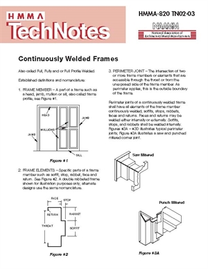 Continuously Welded Frames