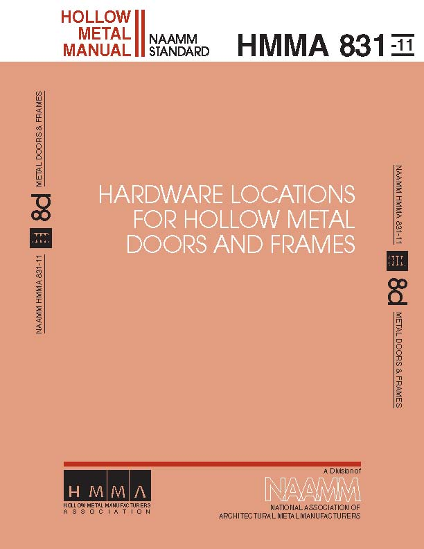 Hardware Locations for Hollow Metal Doors and Frames