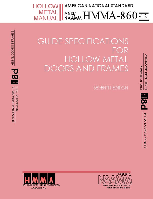 Guide Specifications For Hollow Metal Doors & Frames