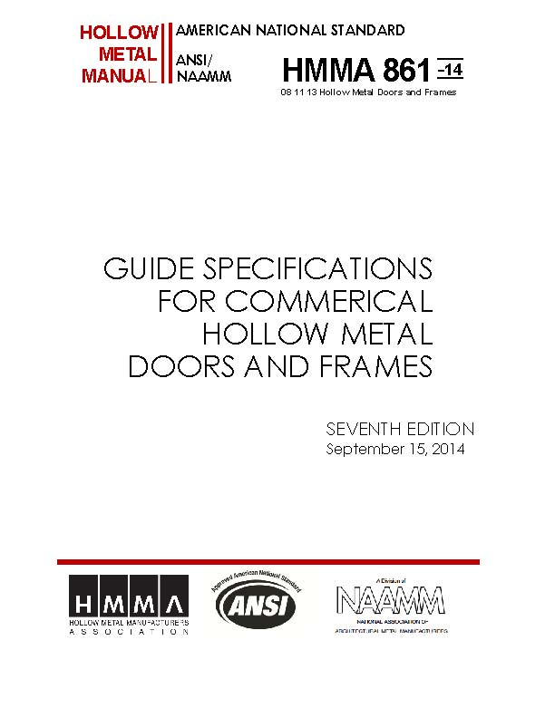 Guide Specifications For Commercial Hollow Metal Doors & Frames
