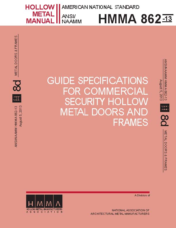 Guide Specifications For Commercial Security Hollow Metal Doors & Frames